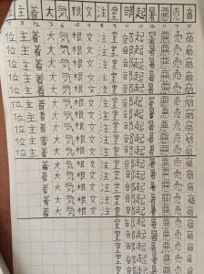 Practicing Kanji